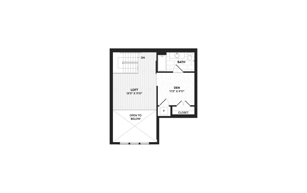 A5+L - 1 bedroom floorplan layout with 2 baths and 1360 square feet. (Floor 2)