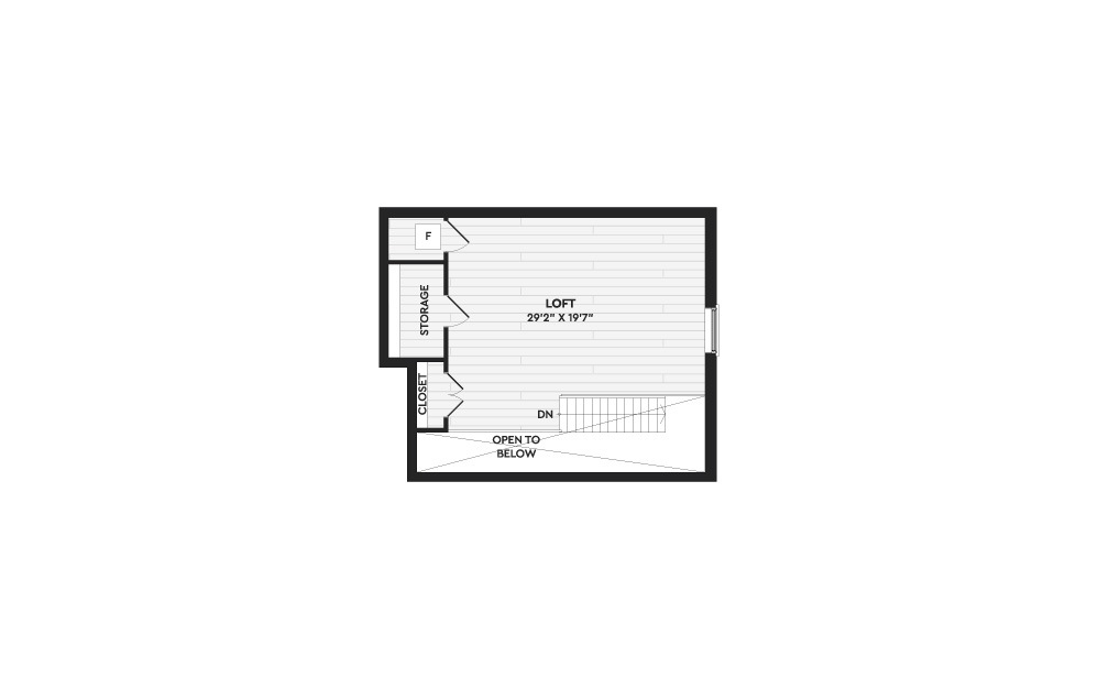 B9+L - 2 bedroom floorplan layout with 2 baths and 1857 square feet. (Floor 2)